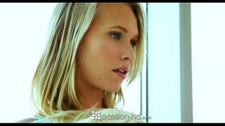 Passion-HD – Hot blonde teen Dakota James sits on her man's dick